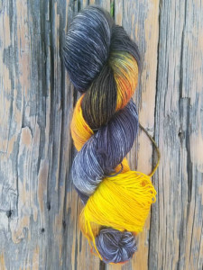 sun interrupted colorway by blue savannah - a brilliantly colored yarn by Blue Savannah available in singles or 3-ply.